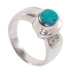 MIDNIGHT MAGESTY STERLING SILVER BLACK AUSTRALIAN OPAL RING