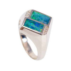HOLIDAY PASSION STERLING SILVER AUSTRALIAN OPAL RING