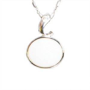 ENCHANTED CRYSTAL STERLING SILVER AUSTRALIAN WHITE OPAL NECKLACE