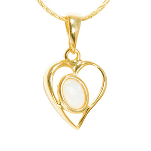 GOLD LOVE 18kt GOLD PLATED AUSTRALIAN WHITE OPAL NECKLACE