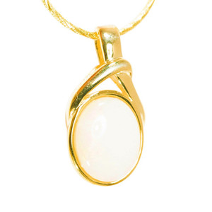 POWDER LOVE 18kt GOLD PLATED AUSTRALIAN WHITE OPAL NECKLACE