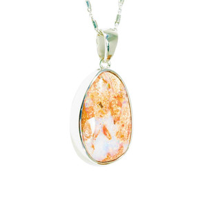 ELECTRIC PINK DESERT STERLING SILVER NATURAL AUSTRALIAN SOLID BOULDER OPAL NECKLACE
