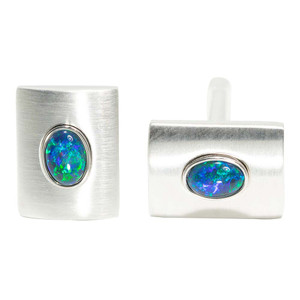 DEEP MOUNTAIN ESCAPE STERLING SILVER AUSTRALIAN OPAL CUFF LINKS