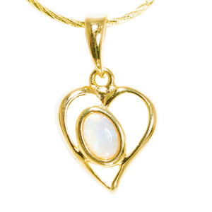 POWDER PASSION 18kt GOLD PLATED AUSTRALIAN WHITE OPAL NECKLACE