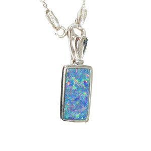 PERFECT PICTURE POP STERLING SILVER AUSTRALIAN  OPAL NECKLACE