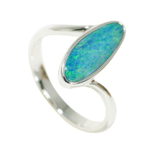 ELECTRIC FANTASY STERLING SILVER AUSTRALIAN OPAL RING