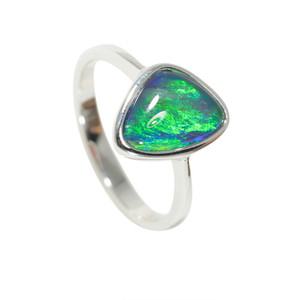 ELECTRIC ISLAND STERLING SILVER BLACK OPAL RING