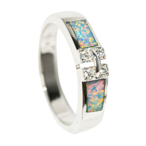 GLEAM & GLOW STERLING SILVER AUSTRALIAN OPAL RING