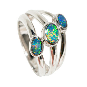 GLOW BENEATH THE SURFACE STERLING SILVER AUSTRALIAN OPAL RING