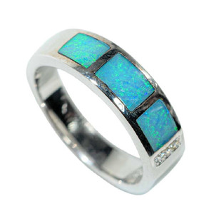 CRYSTALIZED STERLING SILVER AUSTRALIAN OPAL RING