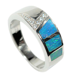 RIP CURRENT STERLING SILVER AUSTRALIAN OPAL RING
