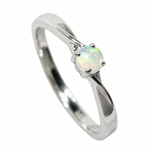 EVERYDAY ADORNMENT STERLING SILVER SOLID AUSTRALIAN WHITE OPAL RING