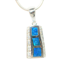 BYRON BAY STERLING SILVER AUSTRALIAN OPAL NECKLACE