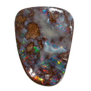 SPACE PARTICLES NATURAL SOLID AUSTRALIAN BOULDER OPAL LOOSE STONE