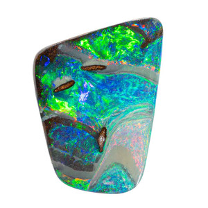 GALACTIC GLOW NATURAL SOLID AUSTRALIAN BOULDER OPAL LOOSE STONE