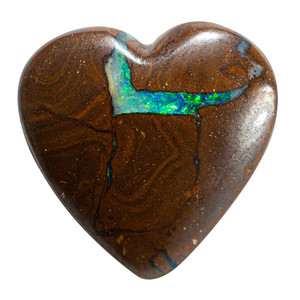 QUEEN OF HEARTS NATURAL SOLID AUSTRALIAN BOULDER OPAL LOOSE STONE