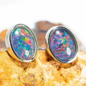 Sterling Silver Space Studs