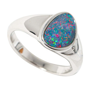 CANDY CRUSH STERLING SILVER AUSTRALIAN OPAL RING