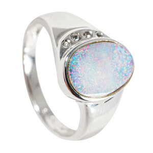MAGIC DEWDROP STERLING SILVER AUSTRALIAN OPAL RING