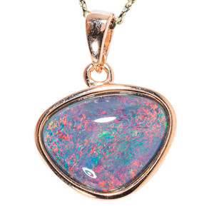 COSMIC DREAMS 18KT ROSE GOLD PLATED AUSTRALIAN  OPAL NECKLACE