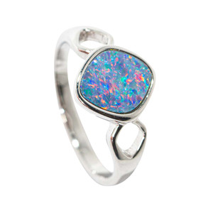 LOVE POTION STERLING SILVER AUSTRALIAN OPAL RING
