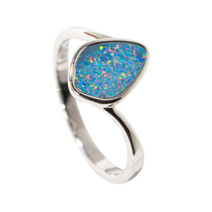 BLOSSOMING HYACINTH STERLING SILVER AUSTRALIAN OPAL RING