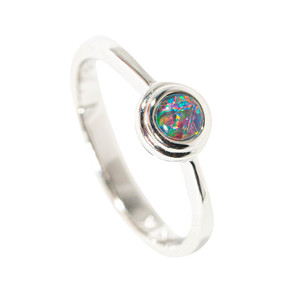 ECLECTIC SURPRISE STERLING SILVER AUSTRALIAN  OPAL RING