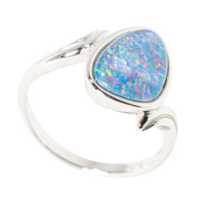 ETHEREAL CONFETTI STERLING SILVER AUSTRALIAN  OPAL RING