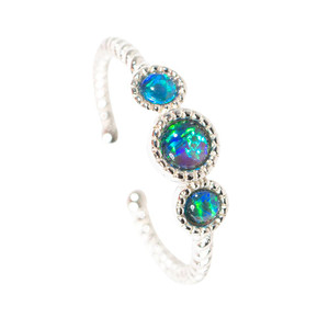 ETHEREAL BUTTERFLY STERLING SILVER AUSTRALIAN  OPAL RING