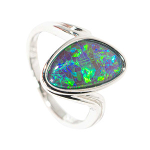LUCID DREAM STERLING SILVER AUSTRALIAN  OPAL RING