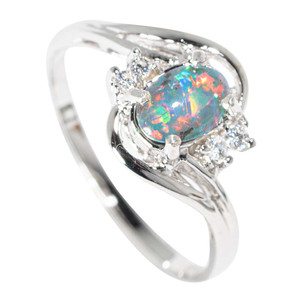 ECCLECTIC CELEBRATION STERLING SILVER AUSTRALIAN  OPAL RING