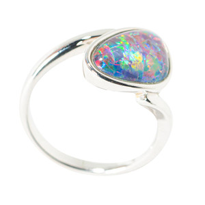 FRUITY PEBBLES STERLING SILVER AUSTRALIAN  OPAL RING