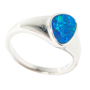 LOW TIDE STERLING SILVER AUSTRALIAN OPAL RING