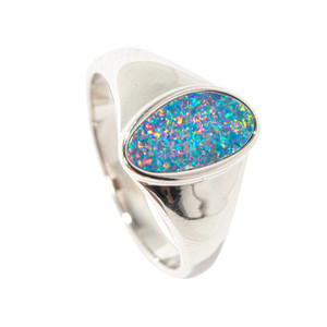 FRUITY REFLECTIONS STERLING SILVER AUSTRALIAN OPAL RING