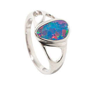 BRIGHT BLESSING STERLING SILVER AUSTRALIAN OPAL RING