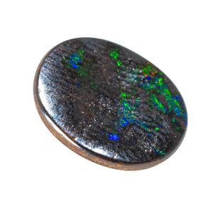 SAN JUNIPERO LIGHTS NATURAL SOLID AUSTRALIAN BLACK BOULDER OPAL LOOSE STONE