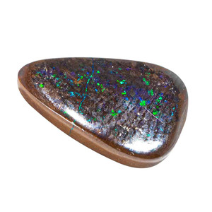 HIDDEN BRILLIANCE NATURAL SOLID AUSTRALIAN BLACK BOULDER OPAL LOOSE STONE