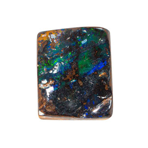 RAINBOW THUNDER NATURAL SOLID AUSTRALIAN BLACK BOULDER OPAL LOOSE STONE