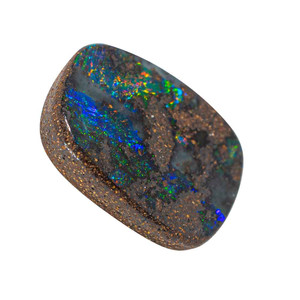COSMIC MEADOW NATURAL SOLID AUSTRALIAN BLACK BOULDER OPAL LOOSE STONE