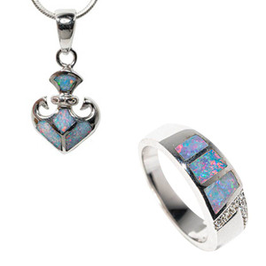 CANDY CRUSH STERLING SILVER AUSTRALIAN OPAL JEWELLERY SET