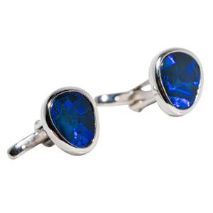 REFINED BLUES AUSTRALIAN OPAL CUFF LINKS