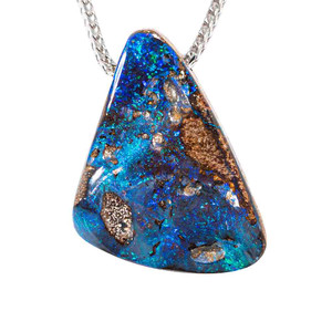 A SEABED SOLID AUSTRALIAN OPAL NECKLACE
