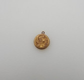 Exquisite Art Nouveau Lady Mucha Maiden Gold Filled Locket F&B Intricate Detail