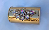 Wadsworth Jeweled Compact Cylinder Tube Fab Watermelon Stones Powder Cigs More