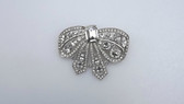 Huge EISENBERG Ice Classics Brooch Big Rhinestone Bow Pin