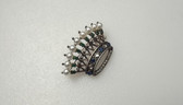 Trifari Sterling Alfred Philippe Royal Crown of Pearls Pin