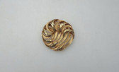 Vintage Gold Trifari Brooch 3D Abstract Waves Design 1960's Pin