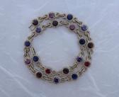 Nadri Art Deco Style Formal Collar Necklace Jewel Tone & Clear CZ's