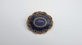 Georgian Victorian Mourning Brooch Chalcedony Pearls Purple Black Enamel GF
