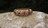 Joseph Mazer Moghul JEWELS of INDIA Style Bangle Bracelet Jewel Tone glass Cabs